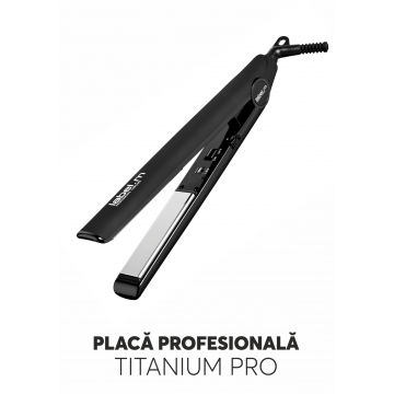Label.M BLACK STRAIGHTENER-placa profesionala
